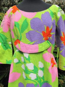 1960's vintage Hawaiian fluo-print cotton sundress by Mali Honolulu. **SOLD**